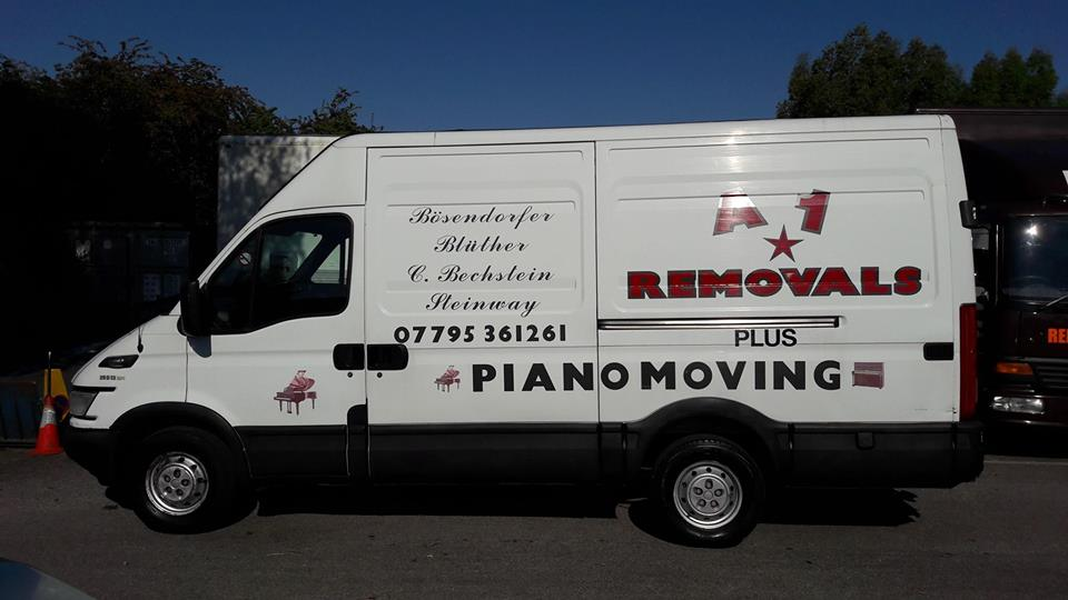 A1 Piano Removals Van In Cheltenham